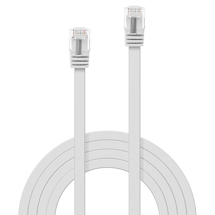 Imagine Cablu de retea cat 6 UTP Flat alb 5m, Lindy L47504