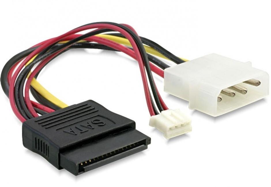 Imagine Cablu Y alimentare SATA la Molex + 4 pini, Delock 84420