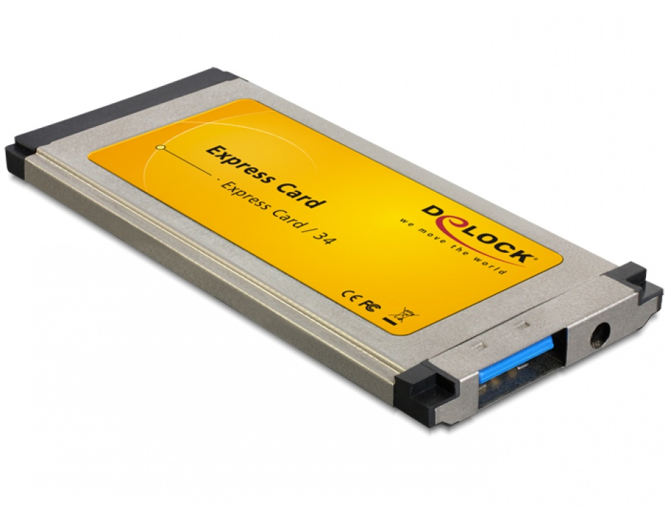 Imagine Placa ExpressCard la 1 port USB 3.0 slim, Delock 61872