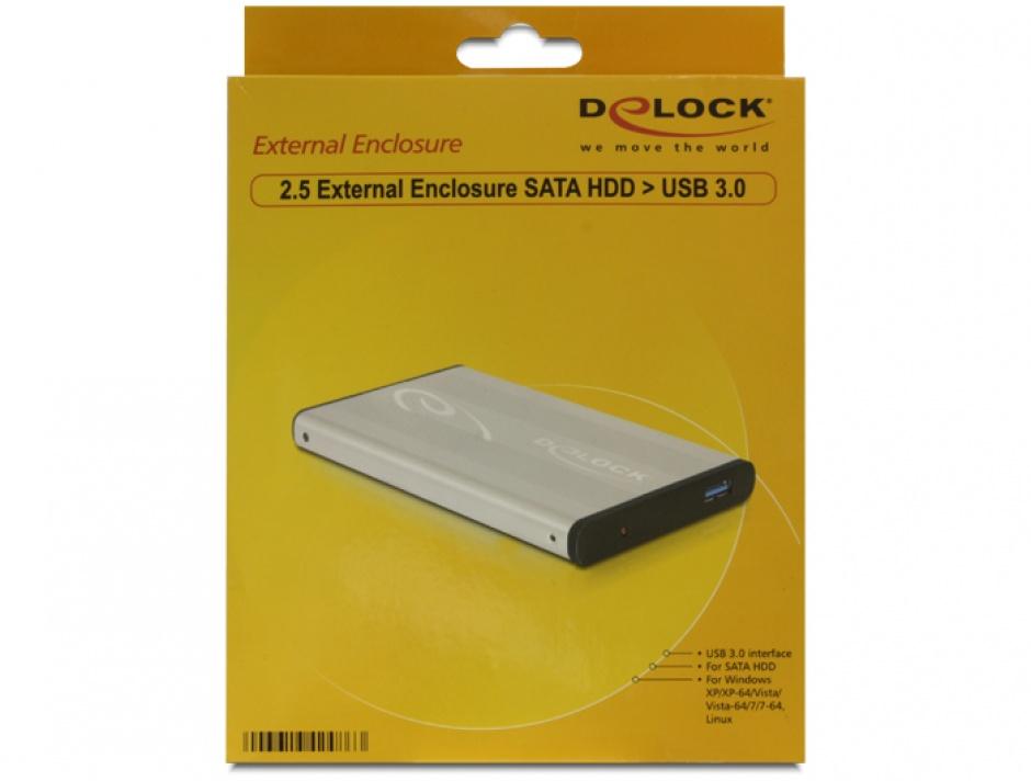 "Imagine Rack HDD Extern 2.5"" USB 3.0 la SATA, Delock 42486-4"