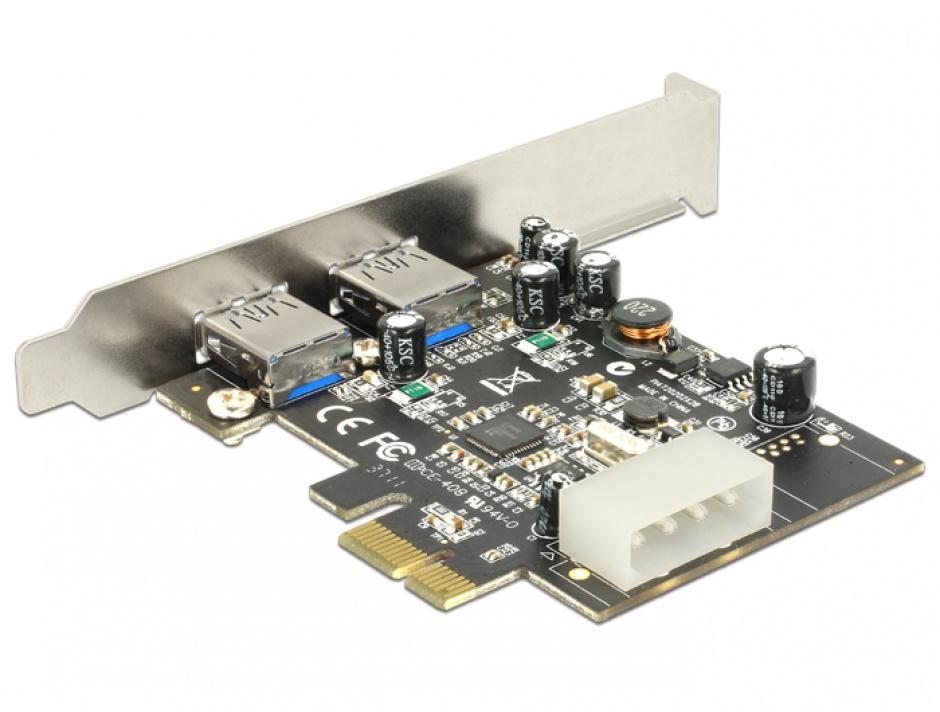 Imagine PCI Express USB 3.0 2 porturi, Delock 89241-1