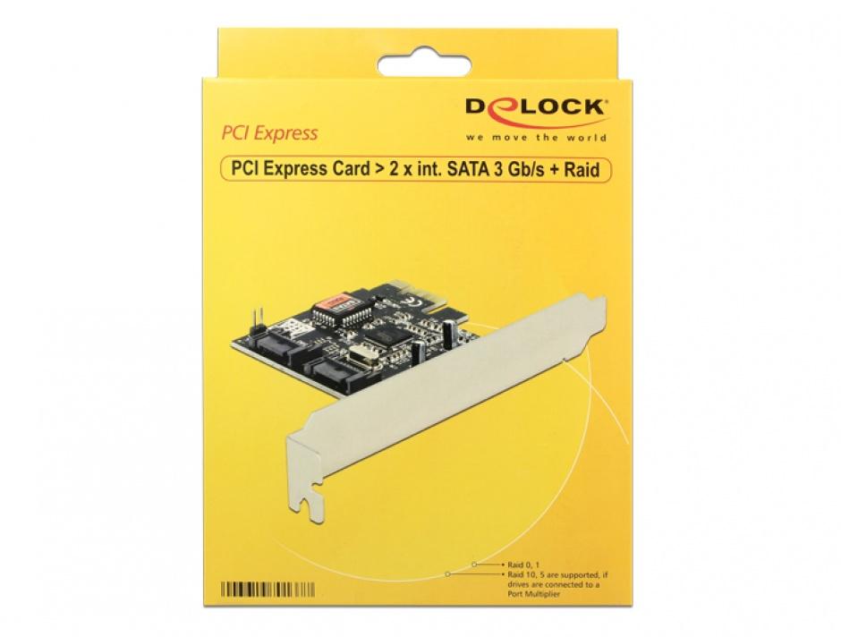 Imagine PCI Express cu 2 Porturi SATA II, Raid, Delock 70137-2