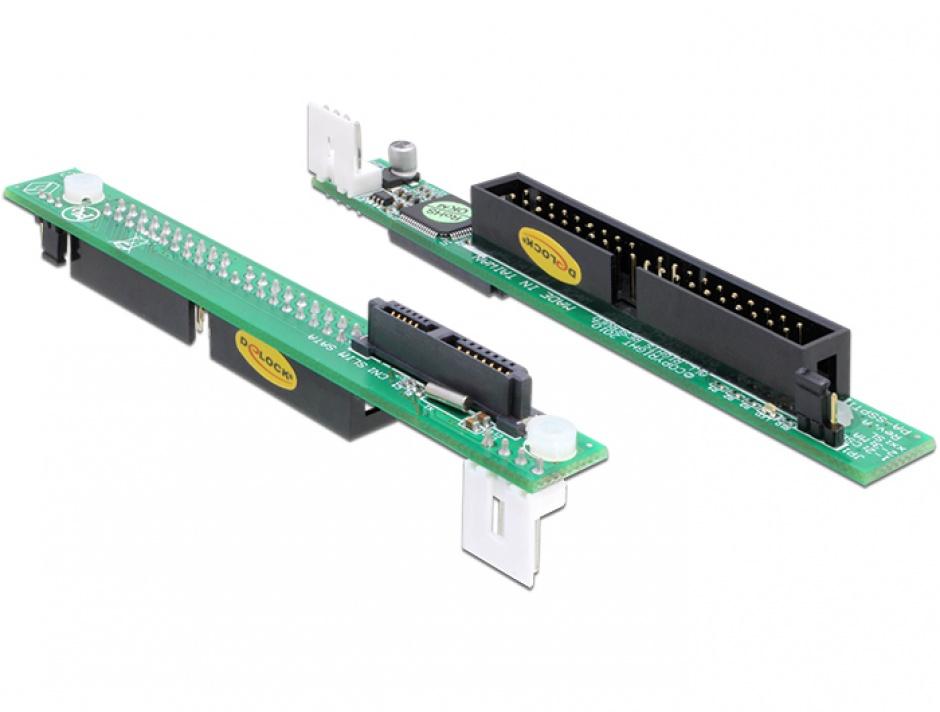 Imagine Adaptor Slim SATA 13 pini la IDE 40 pini, Delock 65236