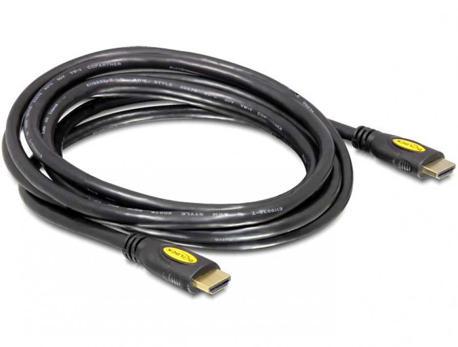 Imagine Cablu HDMI 4K v1.4 T-T 1m Negru, Delock 82584-1