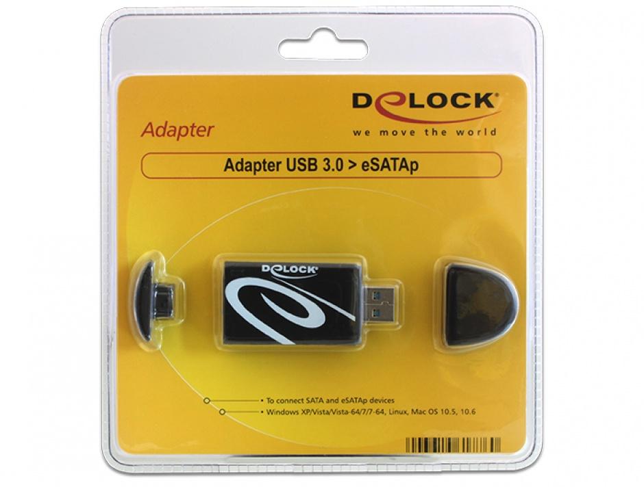 Imagine Adaptor USB 3.0 la eSATAp 5V, Delock 61776-4