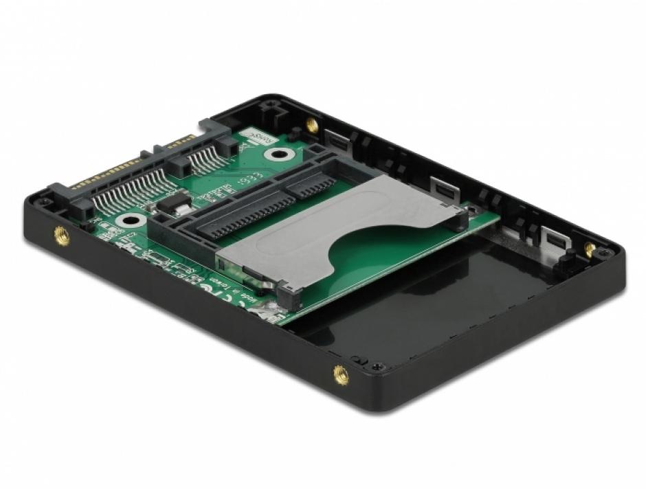 """Imagine Adaptor 2.5"""" pentru carduri CFast, Delock 91750"""