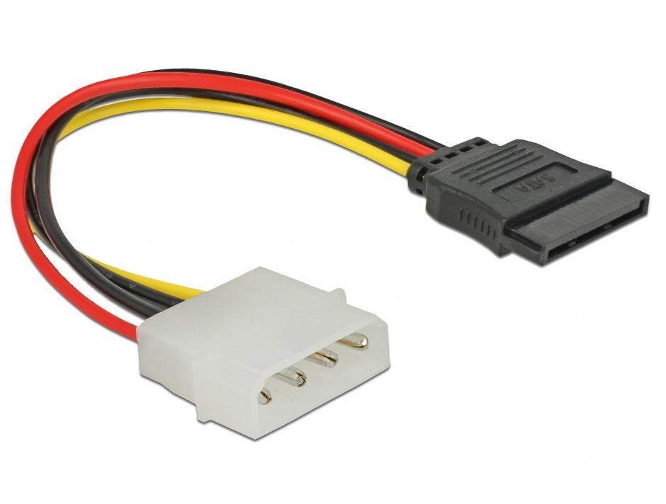 Imagine Cablu de alimentare SATA la Molex M-T 12cm, Delock 60100