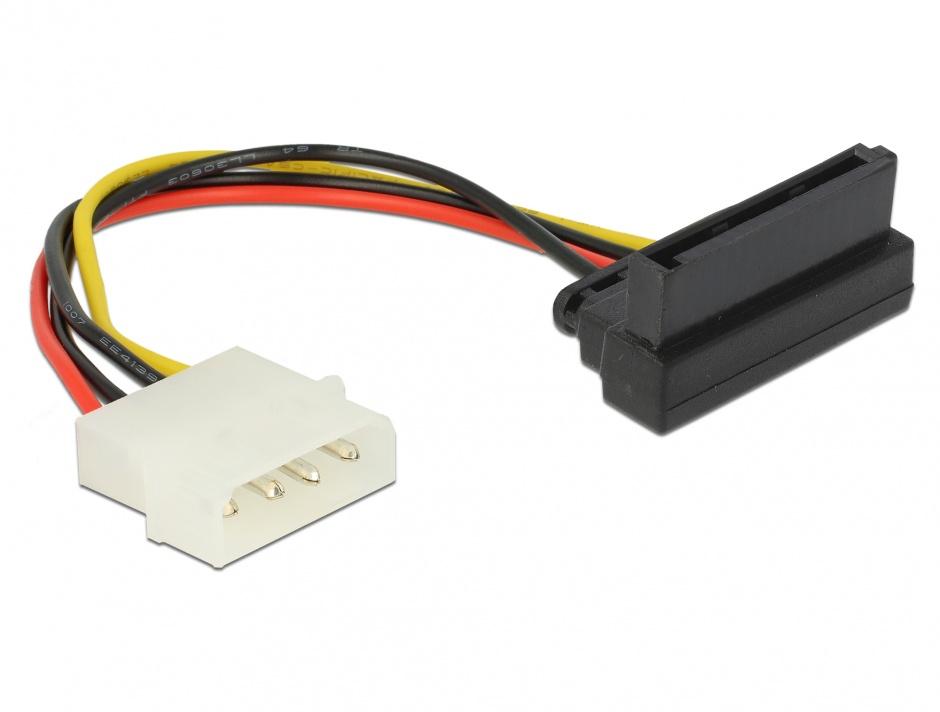 Imagine Cablu de alimentare SATA la Molex in unghi, Delock 60104