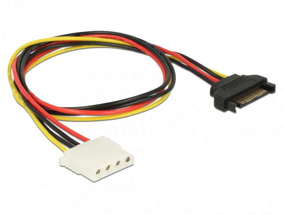 Imagine Cablu de alimentare SATA la Molex T-M 50cm, Delock 60137