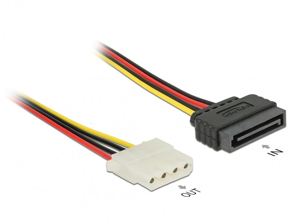 Imagine Cablu de alimentare SATA la Molex T-M 100cm, Delock 60140