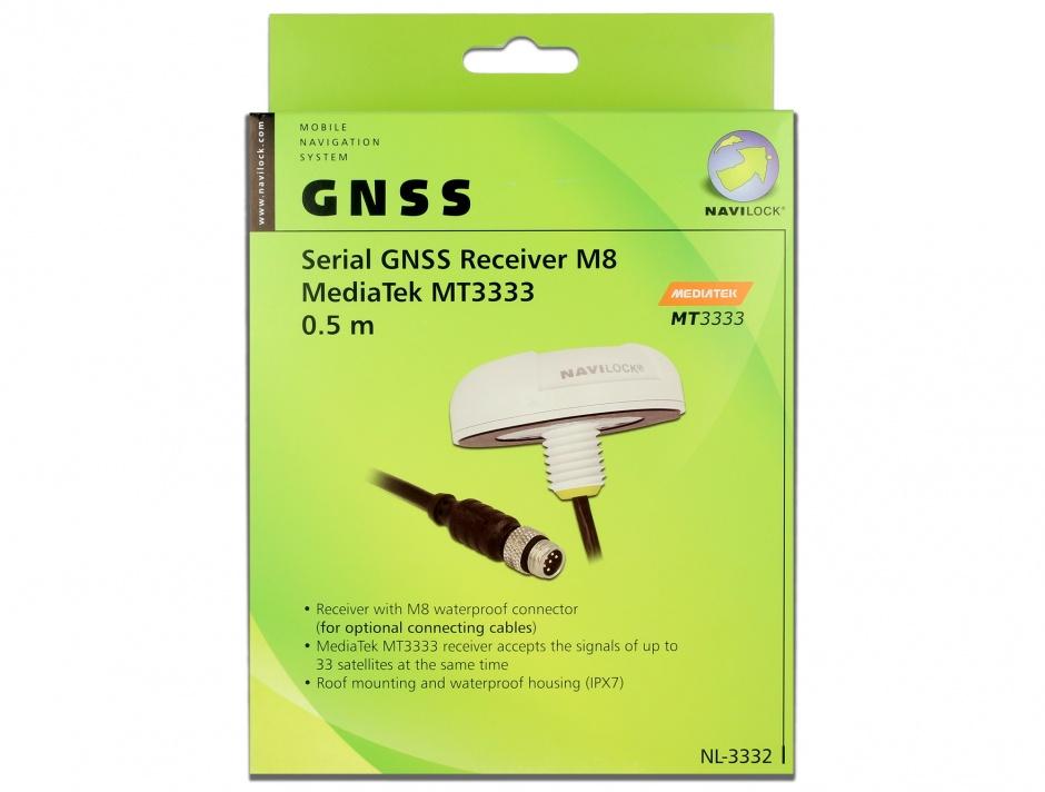 Imagine NL-3332 M8 Serial Multi GNSS Receiver MT3333 0.5m, Navilock 60327