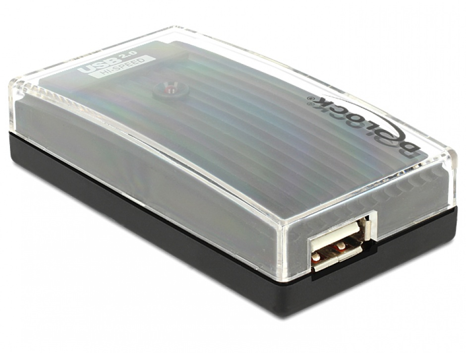 Imagine Hub USB 2.0 extern 4 Port + alimentare, Delock 61393