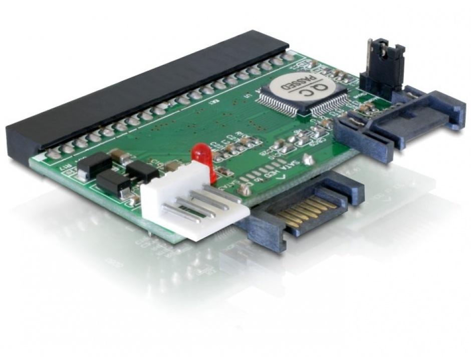 Imagine Convertor IDE 40 pini la 2 x HDD SATA, Delock 61664