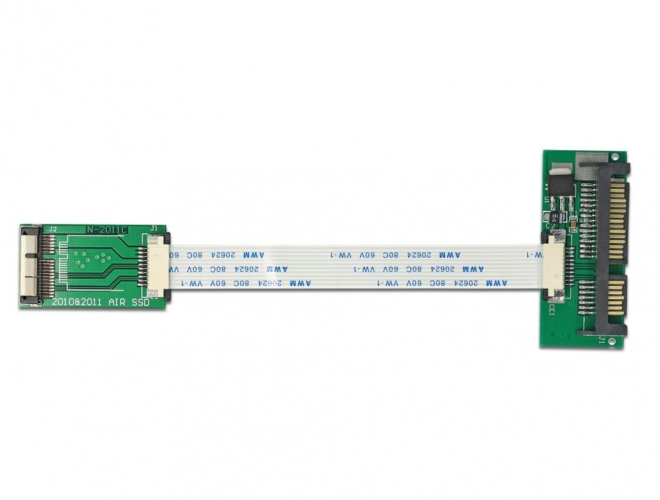 Imagine Convertor MacBook Air SSD la SATA 22 pin, Delock 62429
