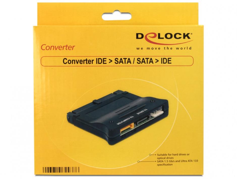 Imagine Convertor IDE la SATA / SATA la IDE, Delock 62438