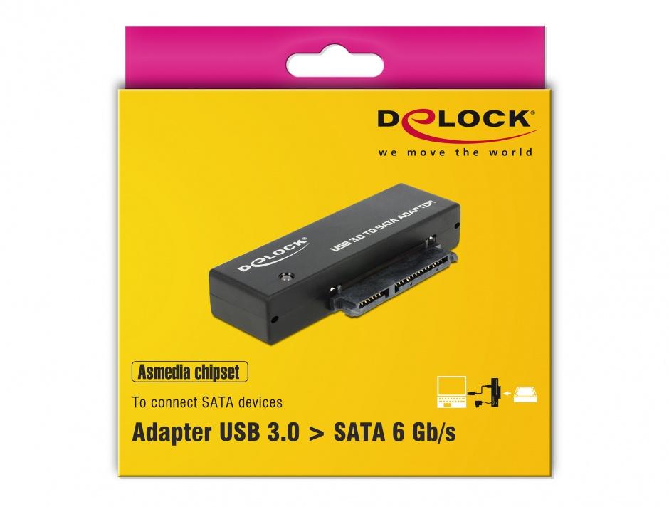 """Imagine Adaptor portabil USB 3.0 la SATA III pentru HDD/SSD 2.5""""+3.5"""", Delock 62486"""
