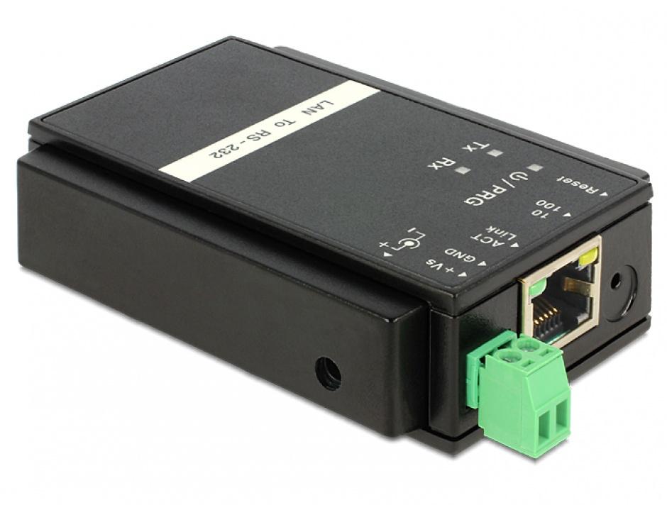 Imagine Convertor Ethernet LAN la Serial RS-232, Delock 62504