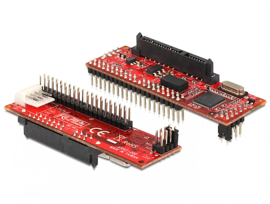 Imagine Convertor SATA la IDE 40 pini, Delock 62510