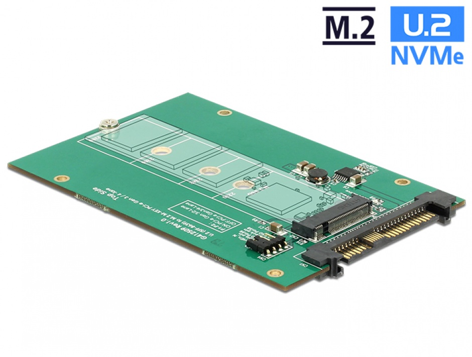 Imagine Adaptor U.2 SFF-8639 la M.2 NGFF NVMe Key M, Delock 62696