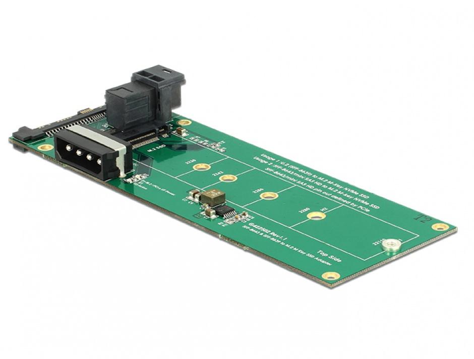 Imagine Convertor U.2 SFF-8639 / SFF-8643 NVMe la 1 x M.2 Key M, Delock 62945