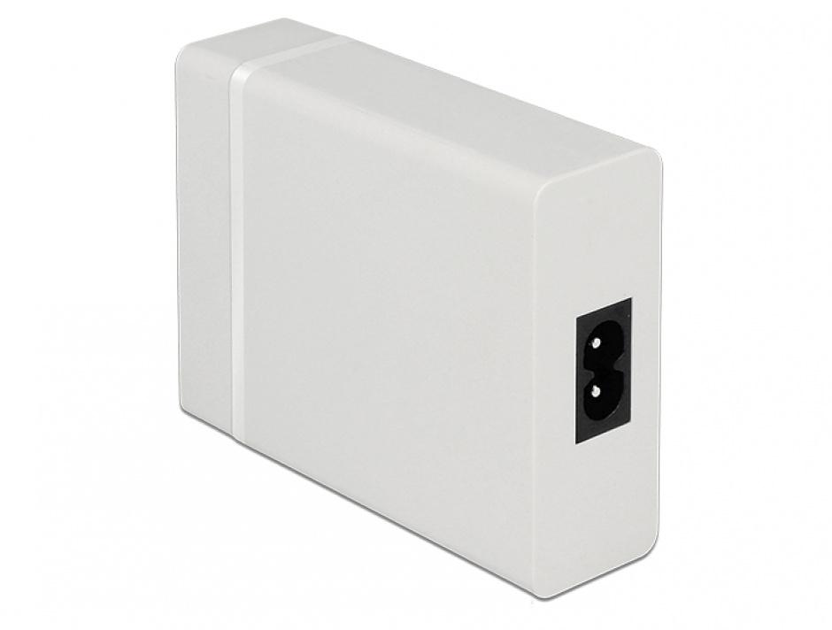 Imagine Incarcator laptop cu 1 x USB-C PD + 3 x USB-A 20V 3A (max. 60 W) Alb, Navilock 62952