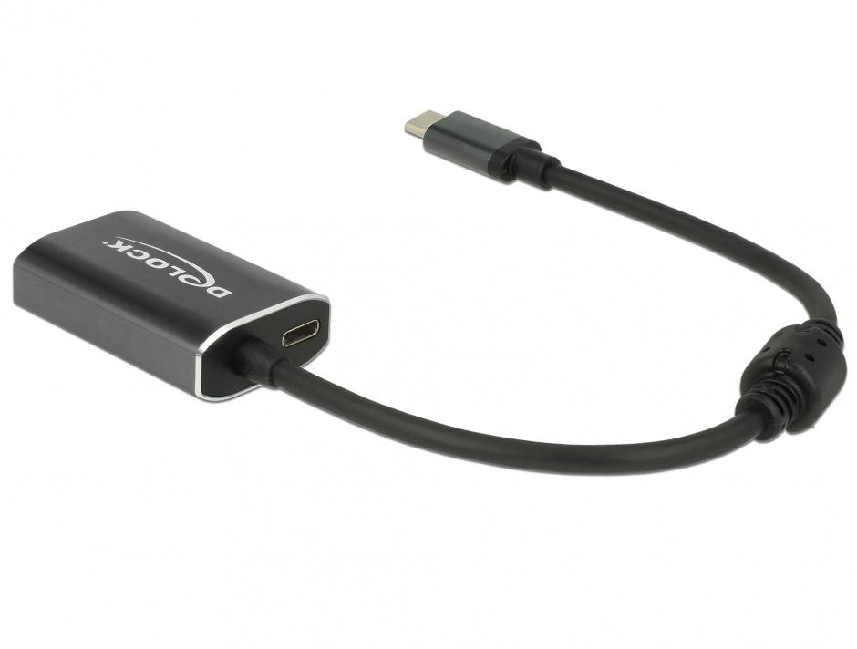 Imagine Adaptor USB-C la mini Displayport (DP Alt Mode) 4K 60 Hz T-M cu PD (Power delivery), Delock 62990