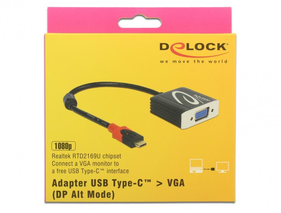 Imagine Adaptor USB tip C la VGA (DP Alt Mode) T-M, Delock 62994