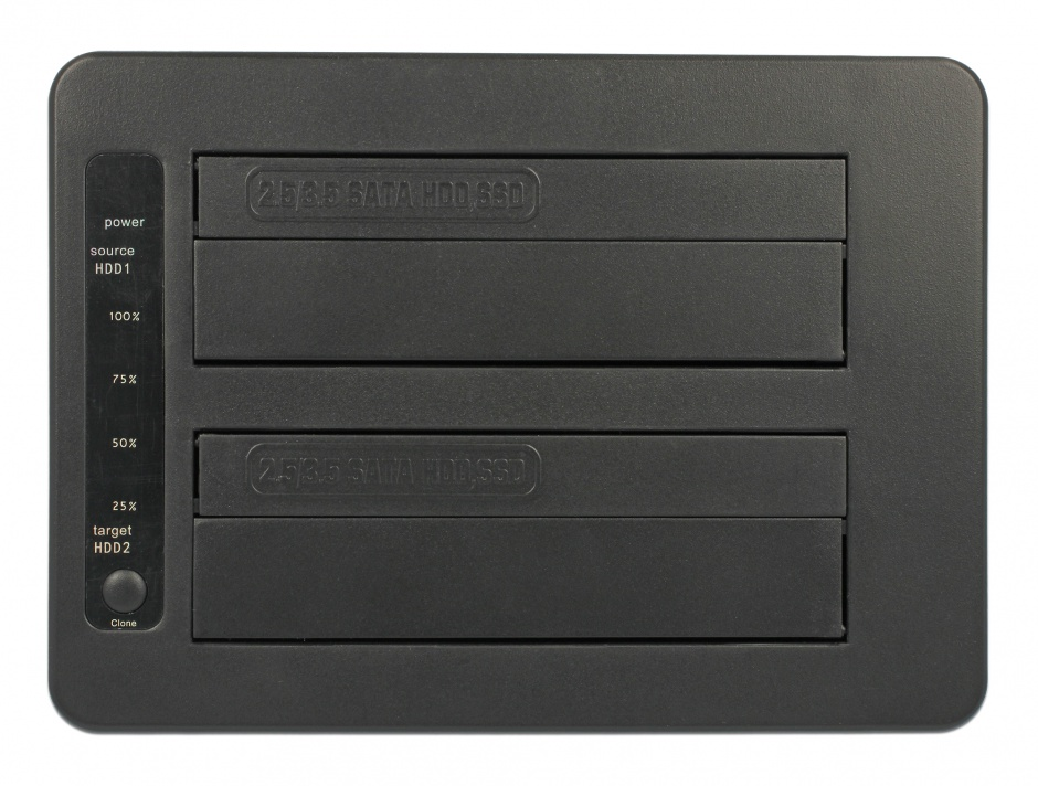 "Imagine Docking Station USB 3.1-C la 2 x SATA HDD/SSD 2.5"" + 3.5"" cu functie de Clona, Delock 63957"