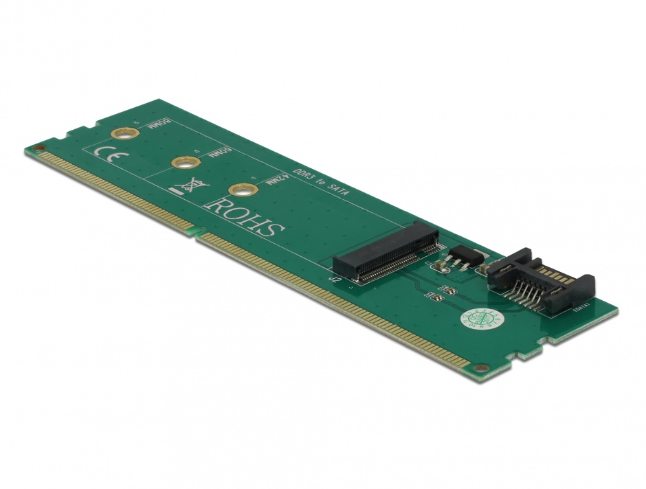 Imagine Adaptor SATA + DDR3 la M.2 key B, Delock 63960