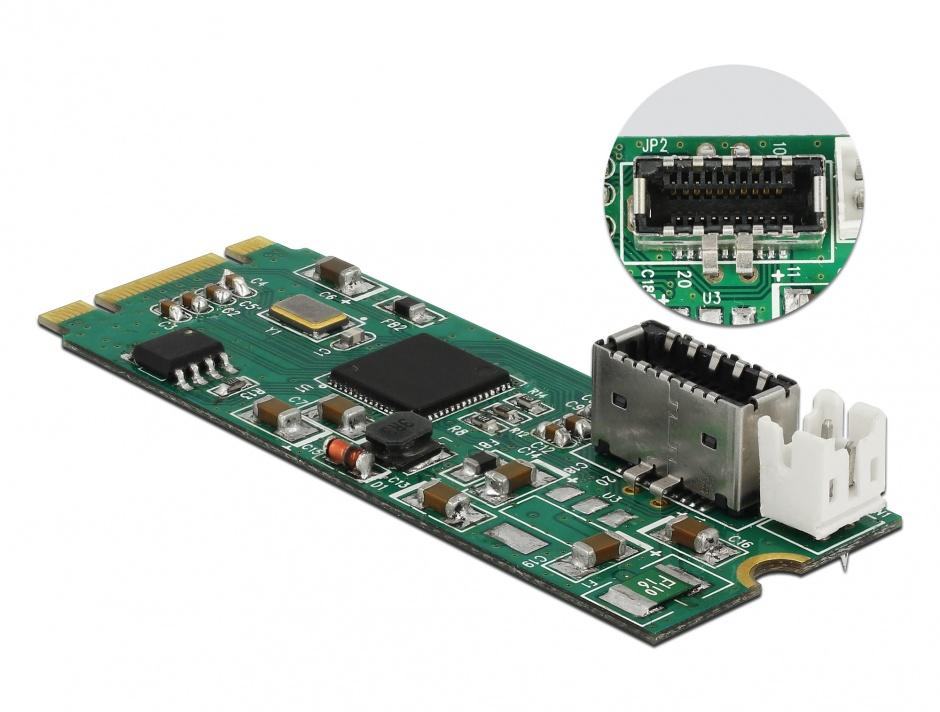 Imagine Convertor M.2 Key B+M la un port USB 3.1 Gen2 key A 20 pini, Delock 63998