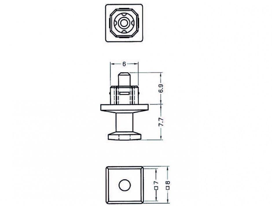 Imagine Protectie impotriva prafului pentru conector TOSLINK cu prindere Negru set 10 buc, Delock 64023