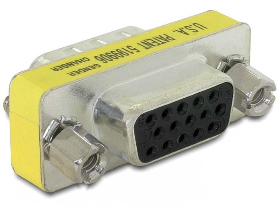Imagine Adaptor VGA 15 pini M-M, Delock 65001