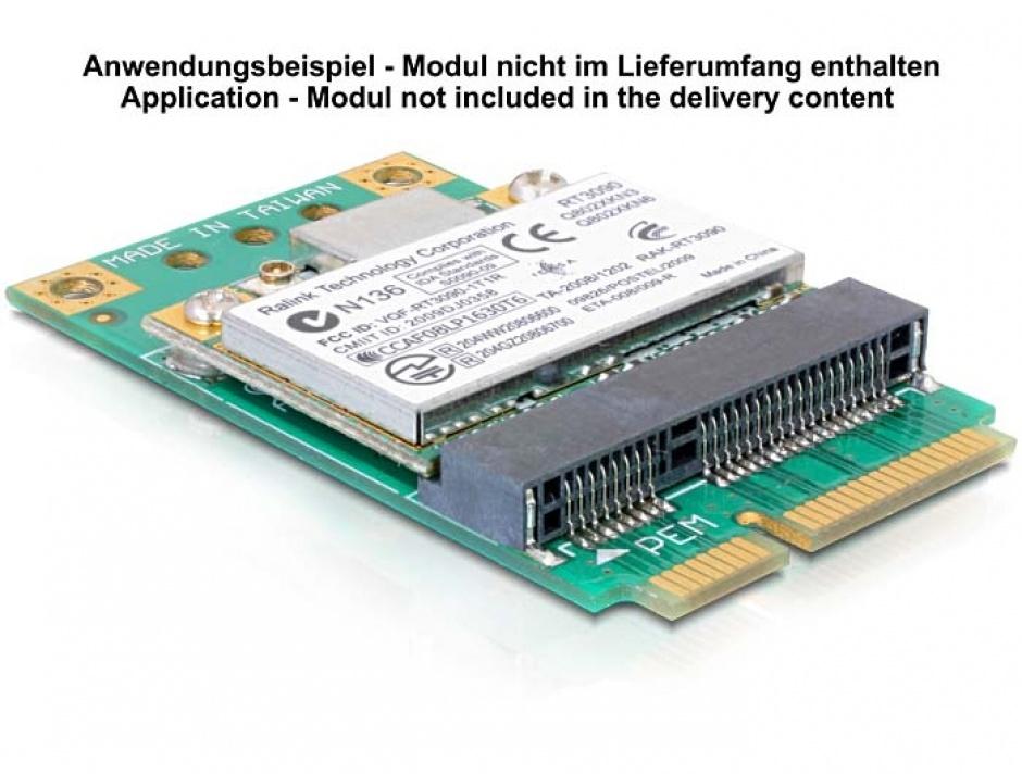 Imagine Adaptor Mini PCI Express half-size la full-size, Delock 65229