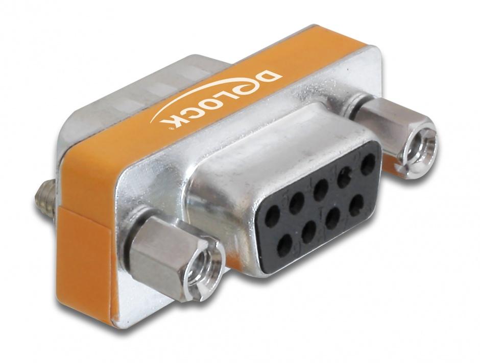 Imagine Adaptor Null Modem D-Sub 9 pini T - M, Delock 65255
