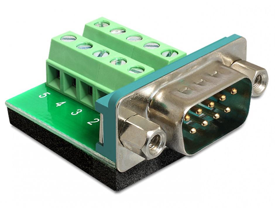Imagine Adaptor Serial Tata la bloc terminal, 10 pini, Delock 65269