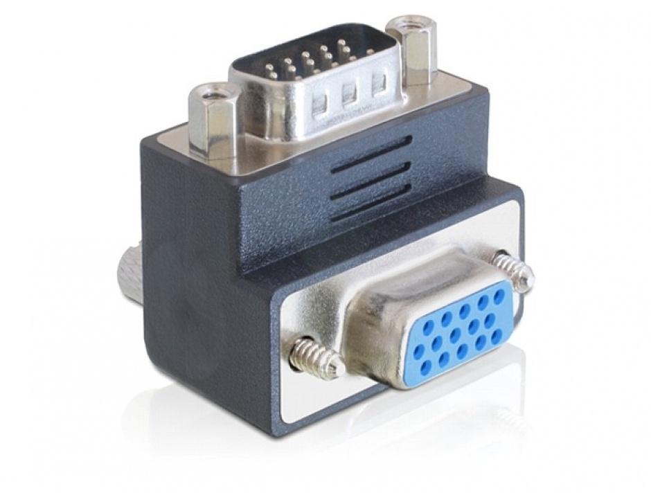 Imagine Adaptor VGA T - M unghi 270 grade, Delock 65290