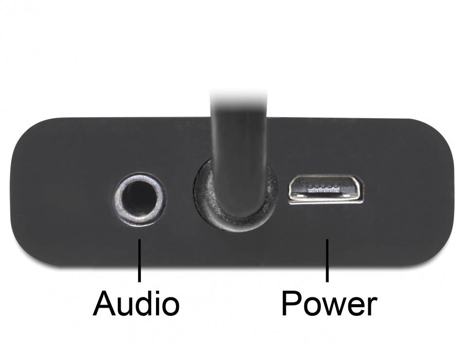 Imagine Adaptor Displayport la VGA 15 pini T-M, Audio + Power, Delock 65439