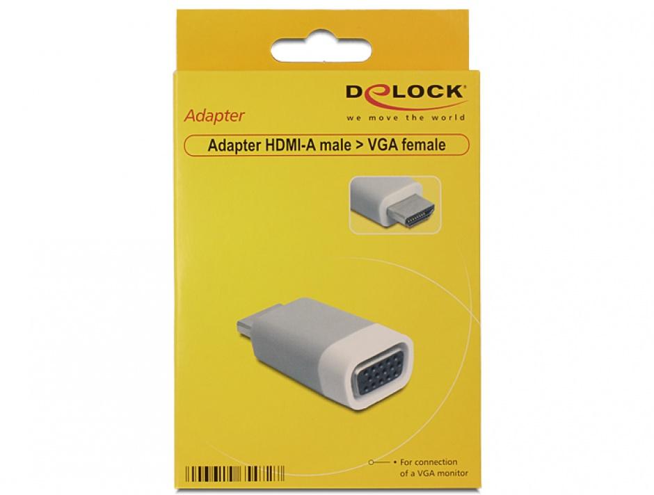 Imagine Adaptor HDMI la VGA T-M, Delock 65472