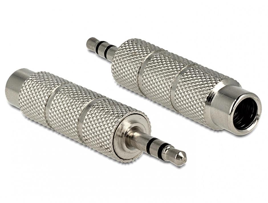 Imagine Adaptor jack stereo 3.5mm T la jack 6.35mm M, Delock 65548
