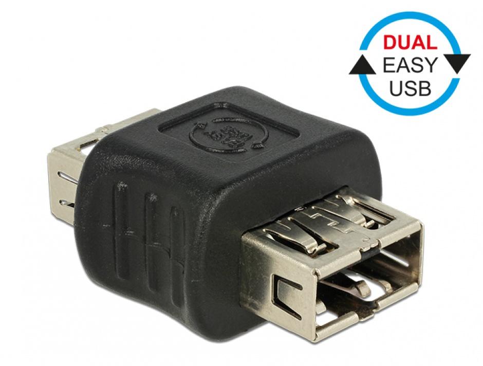 Imagine Adaptor EASY-USB 2.0 tip A M-M, Delock 65642