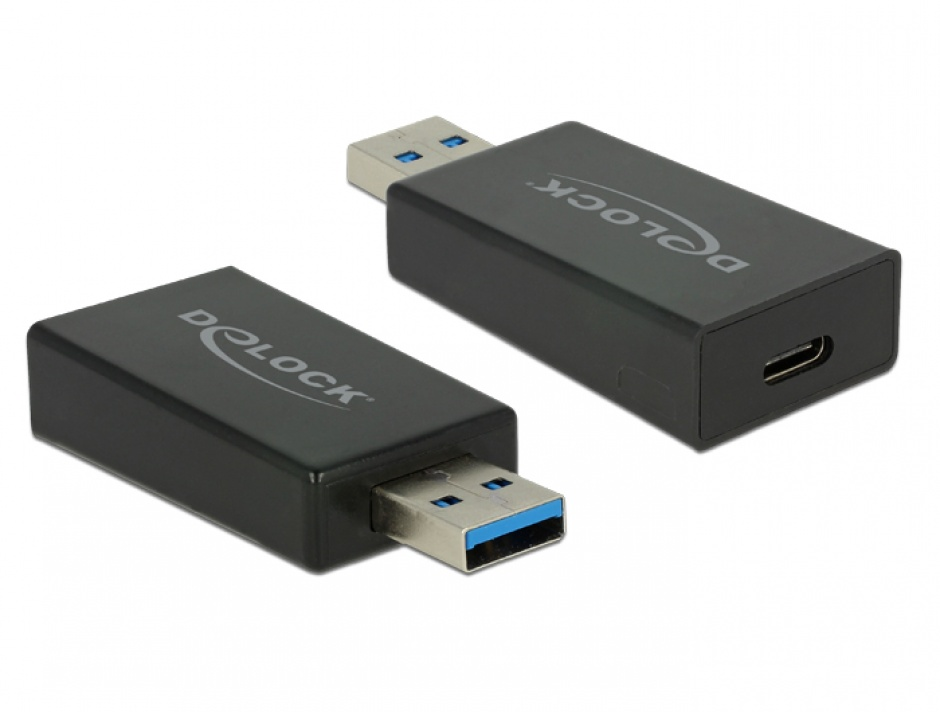 Imagine Adaptor SuperSpeed USB 3.1 tip A (host) la USB tip C (device) Etron T-M, Delock 65689