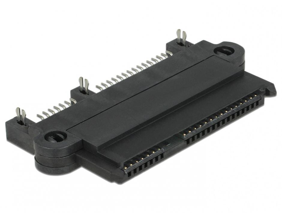 Imagine Conector SATA cu functia NSS 180 grade, Delock 65694