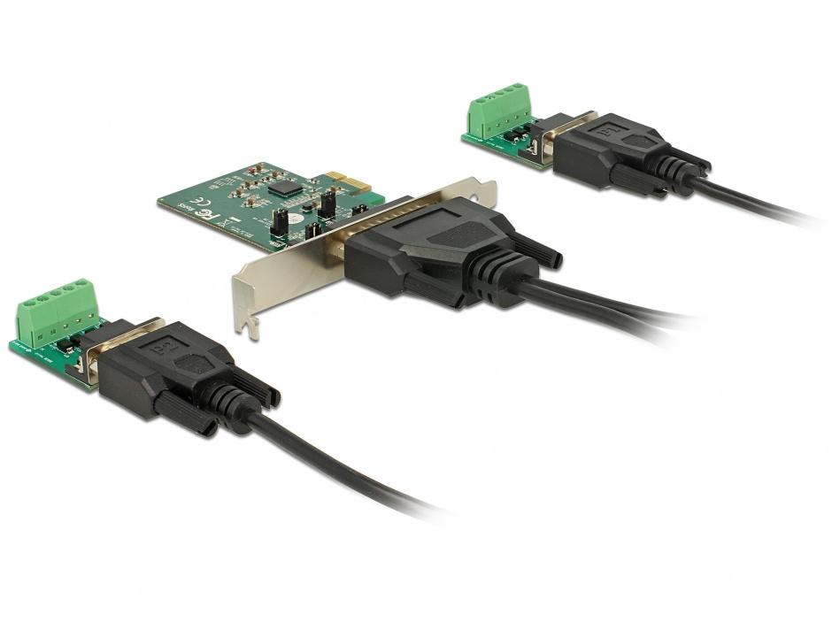 Imagine PCI Express la 2 x Serial RS-422/485 cu protectie ESD, Delock 65841
