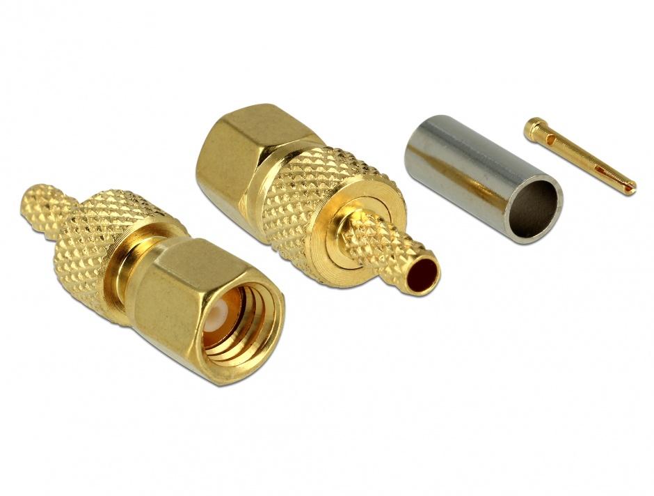 Imagine Conector SMC plug for crimping RG-179 / RG-187, Delock 65858