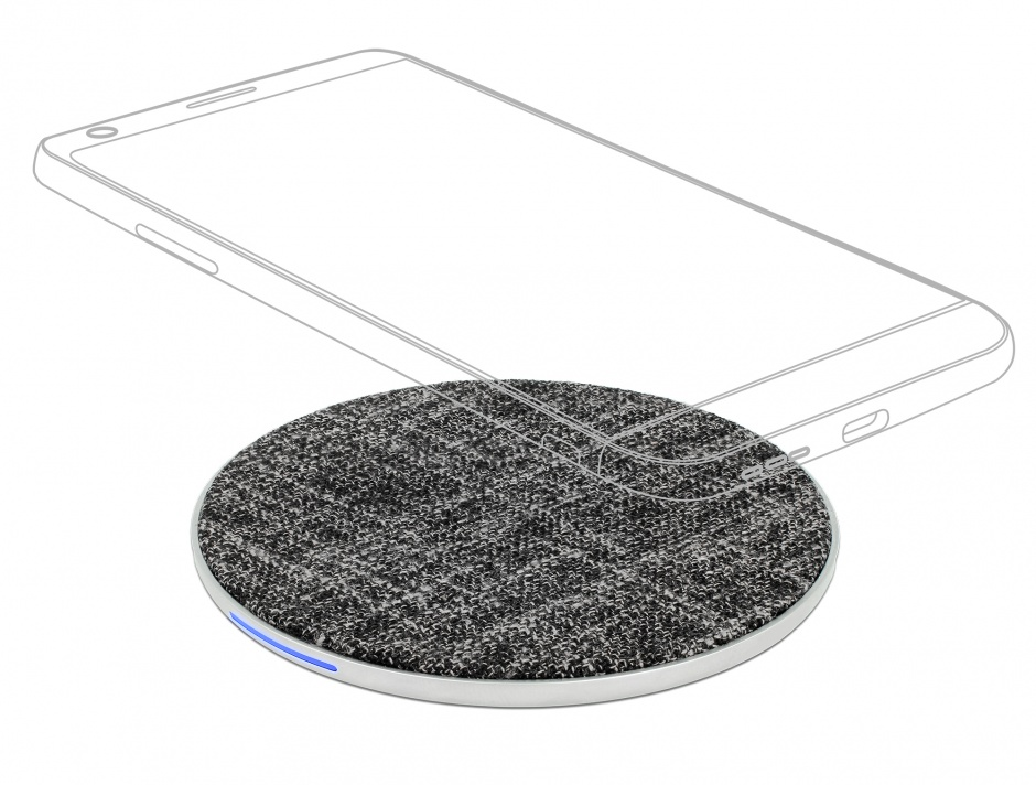 Imagine Incarcator Wireless Qi Fast charger 7.5 / 10W, Delock 65919