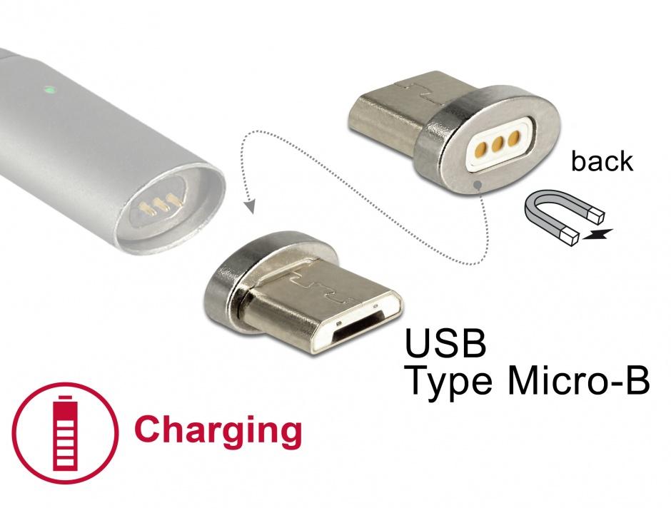 Imagine Adaptor magnetic pentru incarcare micro USB-B pentru 85705/85725, Delock 65929
