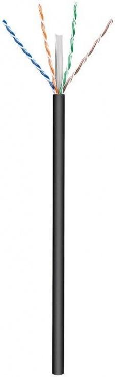 Imagine Rola cablu de retea cat.6 UTP exterior CU 100m Negru, Goobay 77625