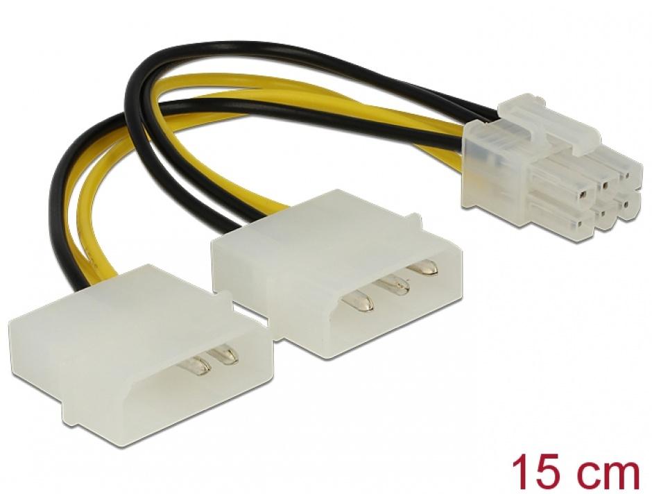 Imagine Cablu alimentare placa PCI Express 6 pini, Delock 82315