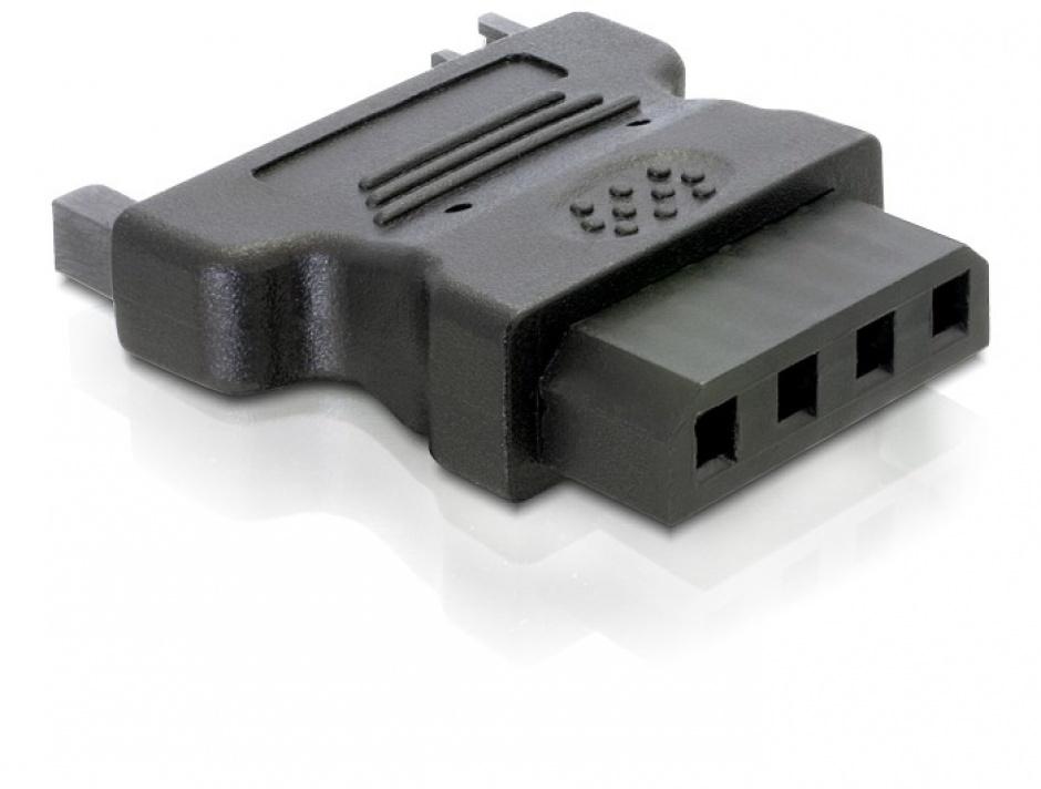 Imagine Adaptor alimentare Molex la SATA 15 pini M-T, Delock 82326