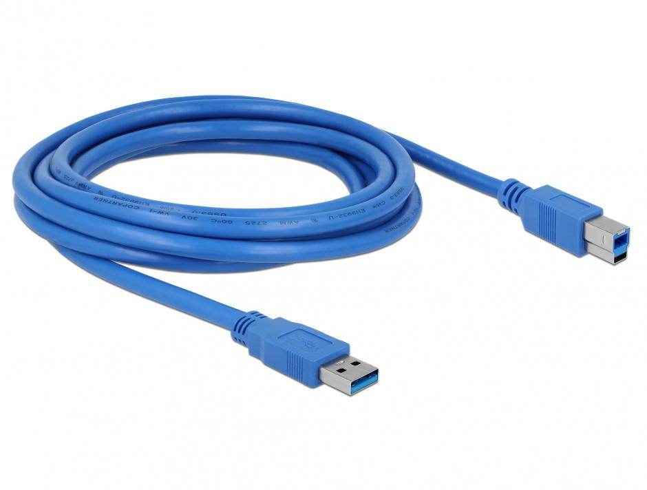 Imagine Cablu USB-B 3.0 la USB A T-T 3m, Delock 82581